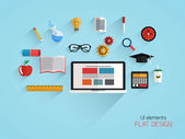 Flat design concept of school and education