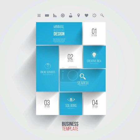 Interface Template-Modern Concept For Internet Web. Flat design.