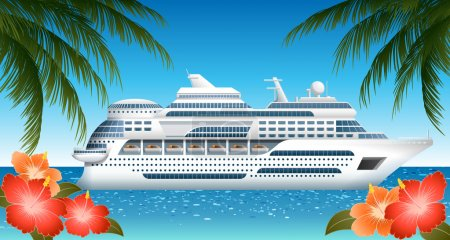 Illustration for Cruise ship, EPS 10, file contains transparency - Royalty Free Image