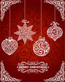 Abstract christmas background with christmas toys EPS 8