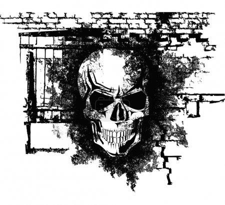 Ludzkie czaszki halloween