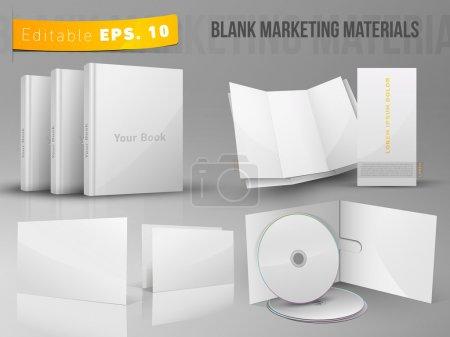 Blank office marketing materials - Editable EPS 10 vector