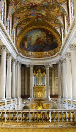Versailles Church Kind on a hall , Versailles in France