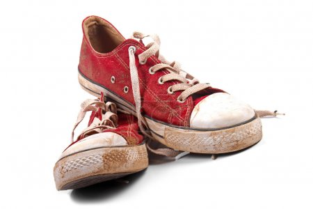 Photo for A pair of dirty sneakers - Royalty Free Image