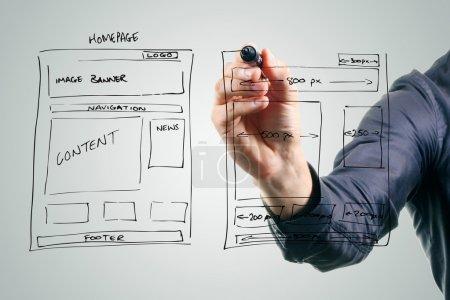 concepteur dessin site développement wireframe