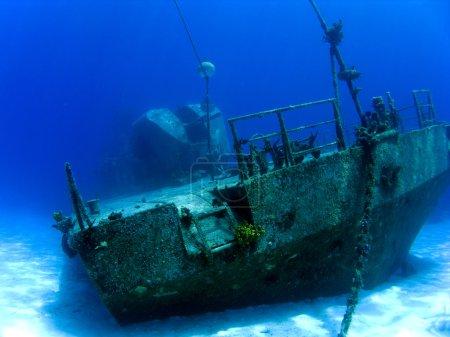Underwater Shipwreck in Cayman Brac