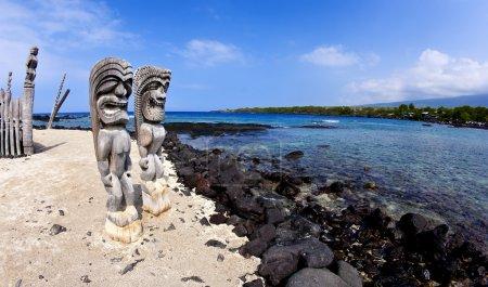 Photo pour Utilisation du grand angle au lieu de refuge à kona hawaii - image libre de droit