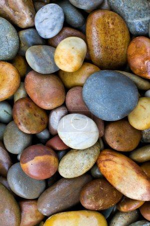 Photo pour Abstrait avec des pierres rondes peeble - image libre de droit
