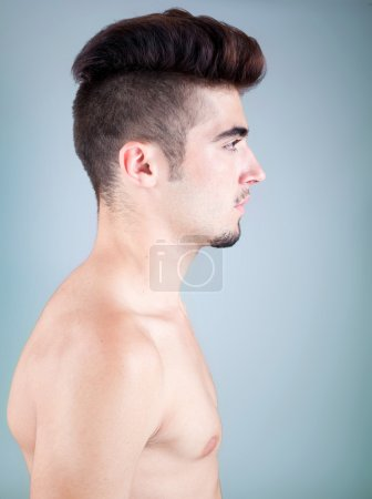 Handsome young man profile