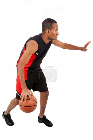Basketball player isolated in white background