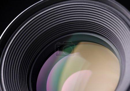 Closeup of a slr lens