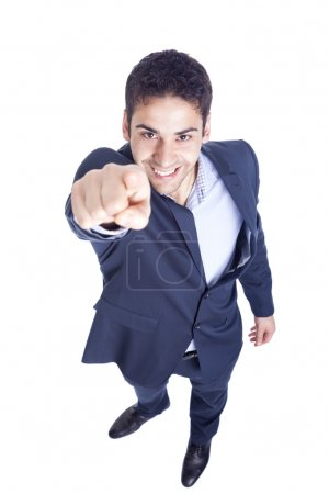 Businessman pointing by finger
