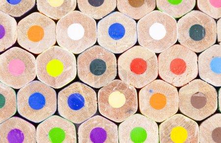 Photo pour Texture arrière des crayons de couleur - image libre de droit