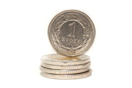 Photo pour Détail de la monnaie polonaise - image libre de droit