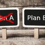 Plan A or Plan B, written on a blackboard. The con...