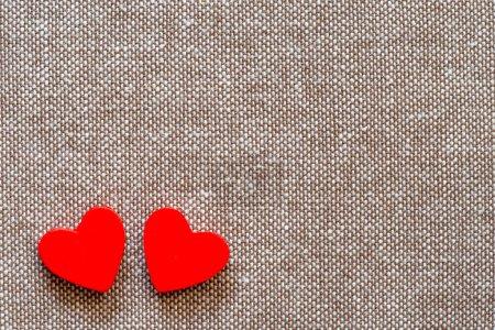 Hearts on hessian