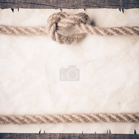 Aged Rope on the old paper