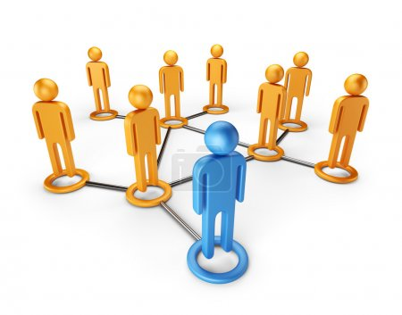 Social network community. Global communication concept 3D, isola