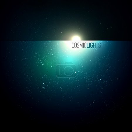Illustration for Cosmic Lights | EPS10 Vector Background Series | Layers Organized and Named - Royalty Free Image