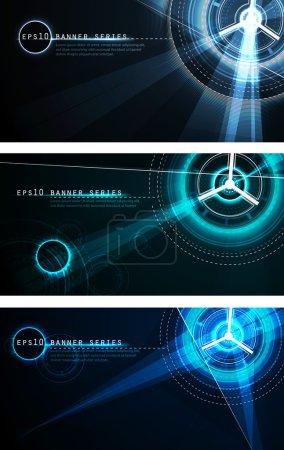 Futuristic Banner Set
