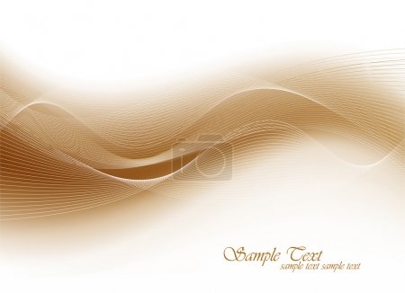 Illustration for Elegant Wave Design Template - Royalty Free Image
