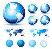 Glossy Earth Globes