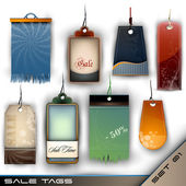 Set of Blank Tags of Different Materials - Detailed Vector