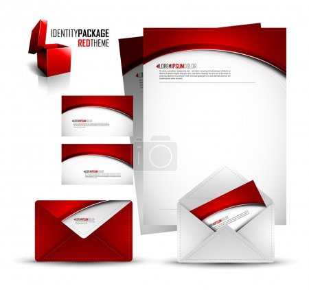 Illustration pour Trousse d'identité - Paquet rouge - Compatibilité EPS10 nécessaire - image libre de droit