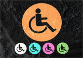 Restrooms for Wheelchair Handicap Icon design  and Pictogram  ic