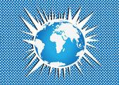 Glóbus země vektorové ikony témat ideový návrh
