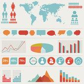 Retro infographics set