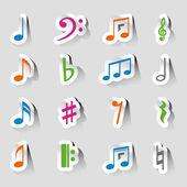 Sada Vektorové ikonu Hudba na štítku
