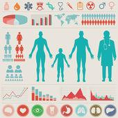 Medical Infographic set Vector illustration