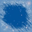 Frame with snowflakes and frosty patterns. Vector ...