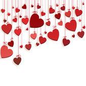 """Постер, картина, фотообои """"романтичный фон с сердцами"""""""