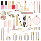 Set of make-up and manicure tools