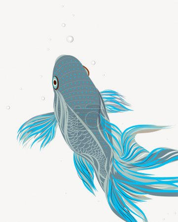 Photo for Bright vector illustration with koi fish - Royalty Free Image