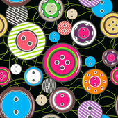 Seamless vector texture with bright buttons