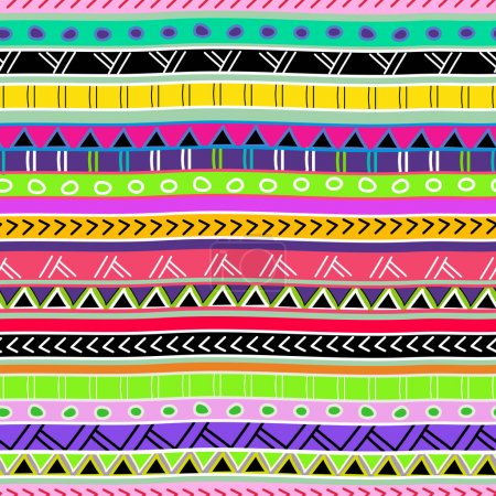 Photo for Seamless vector background with drawing tribal pattern - Royalty Free Image