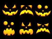 Halloween smiley faces