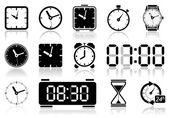 Clocks icon set Vector illustration of different clock web icons