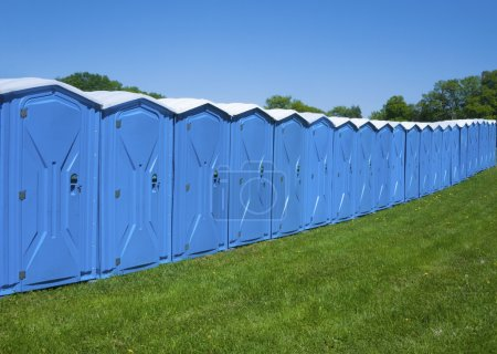 Photo for Portable toilets - Royalty Free Image