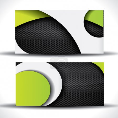 Illustration for Modern vector business card - green, white and black colors - Royalty Free Image