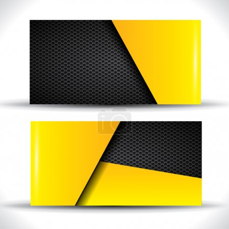Illustration for Modern business card - yellow and black colors - Royalty Free Image