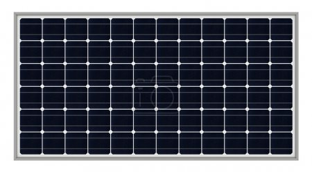 Foto de Render 3D de los paneles solares aisladas sobre fondo blanco - Imagen libre de derechos