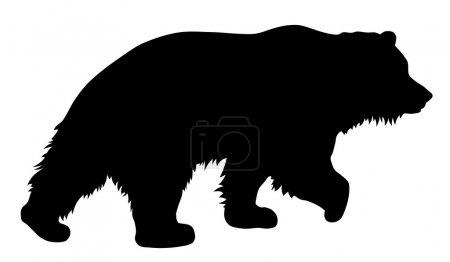 Illustration pour Illustration vectorielle de la silhouette de l'ours brun - image libre de droit