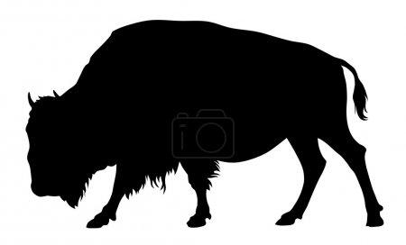 Illustration pour Illustration vectorielle de la silhouette de buffle - image libre de droit