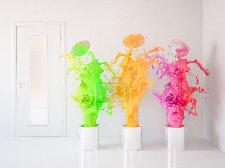Foto de Pintura de una habitación. Casa de renovación - Imagen libre de derechos