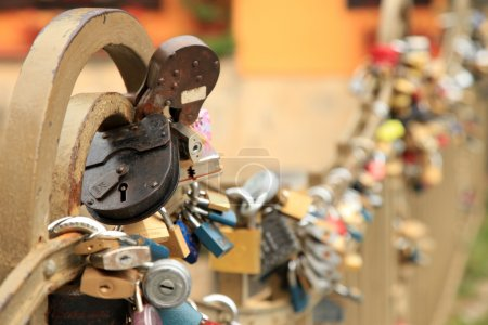 Love Padlocks aAttached To Bridge in Prague...