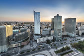 Panorama of Warsaw city, Poland